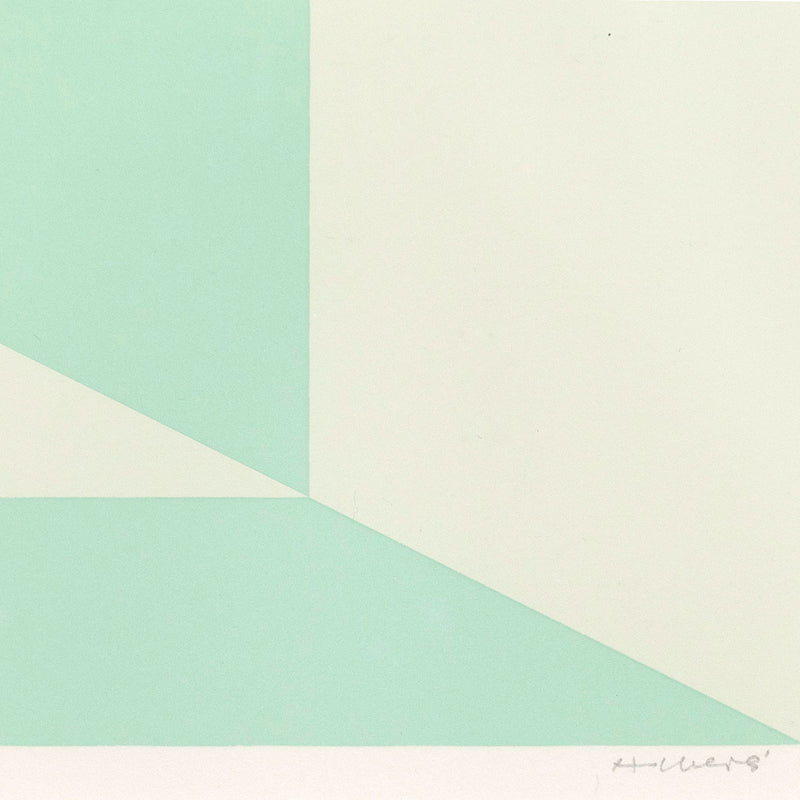"JOSEF ALBERS ""MITERED SQUARES- MIAMI GREEN"" SCREENPRINT, 1976"