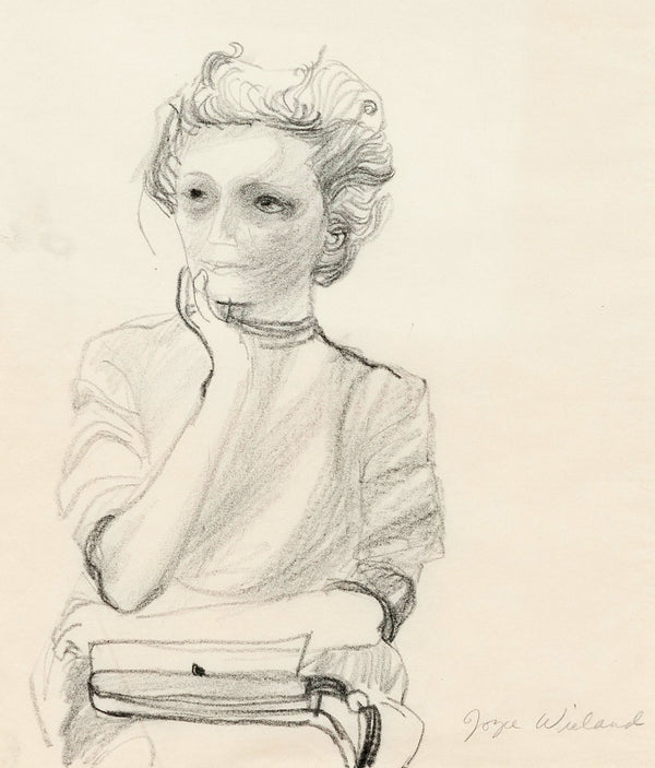 "JOYCE WIELAND ""SELF PORTRAIT"" DRAWING, 1965"