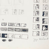 "JOYCE WIELAND ""FILM STRIP SKETCH"" 1960s"