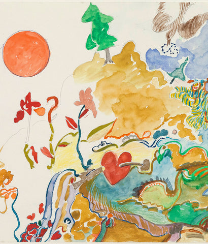 "JOYCE WIELAND ""MAGIC LANDSCAPE"" DRAWING"