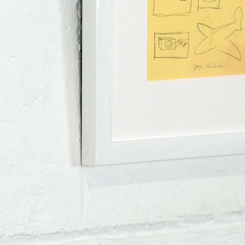 "JOYCE WIELAND ""YELLOW ICONS"" DRAWING"