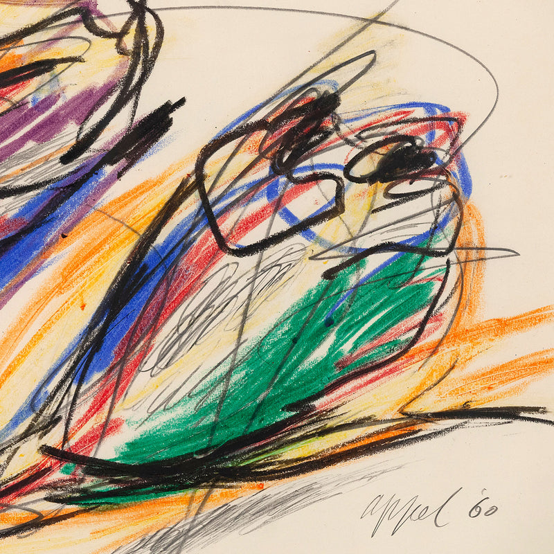 Karel Appel Personnage Caviar20 drawing abstract art