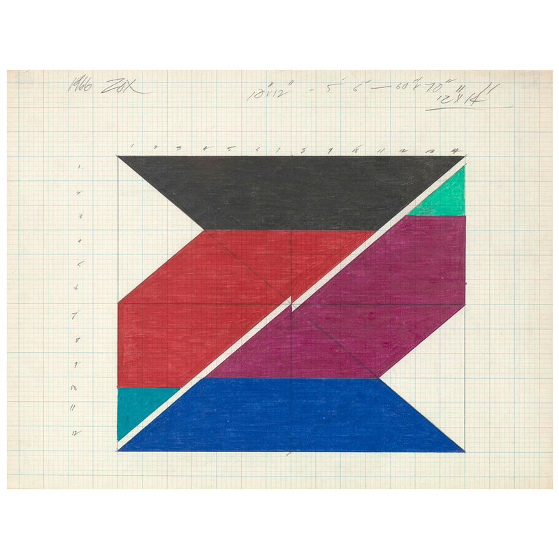 "LARRY ZOX ""UNTITLED (PUSH)"", 1966"