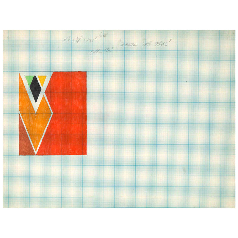 Larry Zox drawings diamond Drill Series 1967 Caviar20