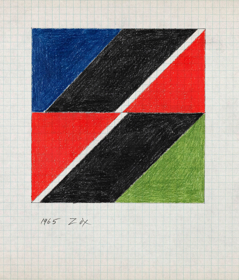"LARRY ZOX ""BLACK PUSH"" DRAWING, 1965"