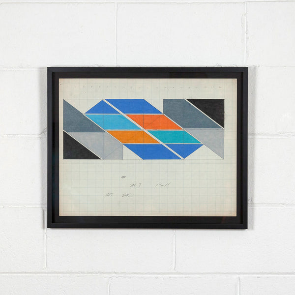 Larry Zox 1965 Caviar20 drawings art hard-edge abstraction