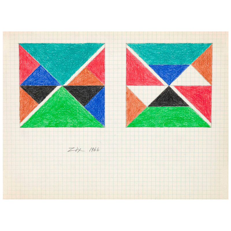 Larry Zox Teal Top Drawing 1966 Caviar20