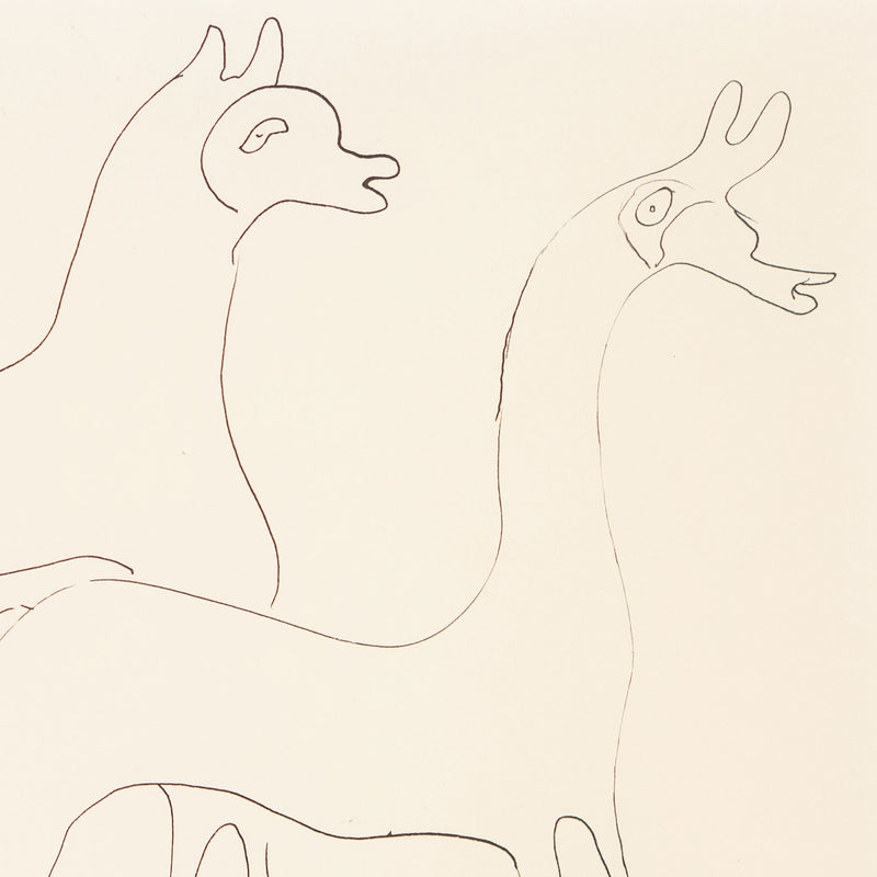 Louise Nevelson, Three Animals, drawing, 1930, Caviar20