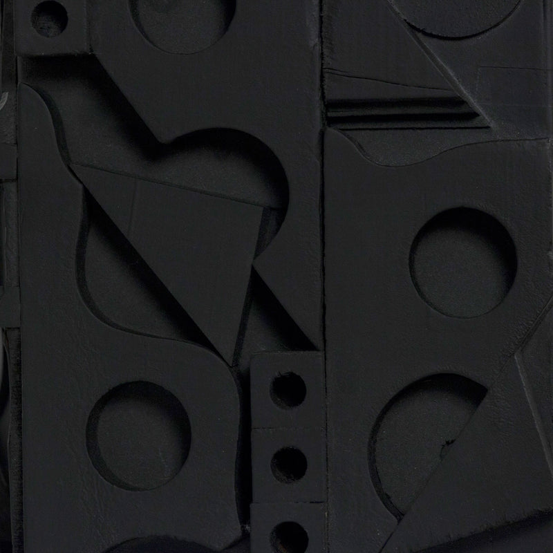 "LOUISE NEVELSON ""DARK CRYPTIC"" SCULPTURE, 1975"