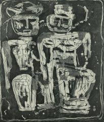 "LOUISE NEVELSON ""JUNGLE FIGURES"" ETCHING, 1953-1955"