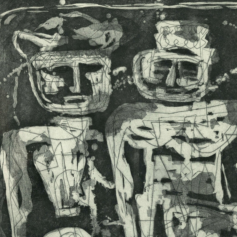 Louise Nevelson prints Aquatint etching Caviar20 Jungle Figures