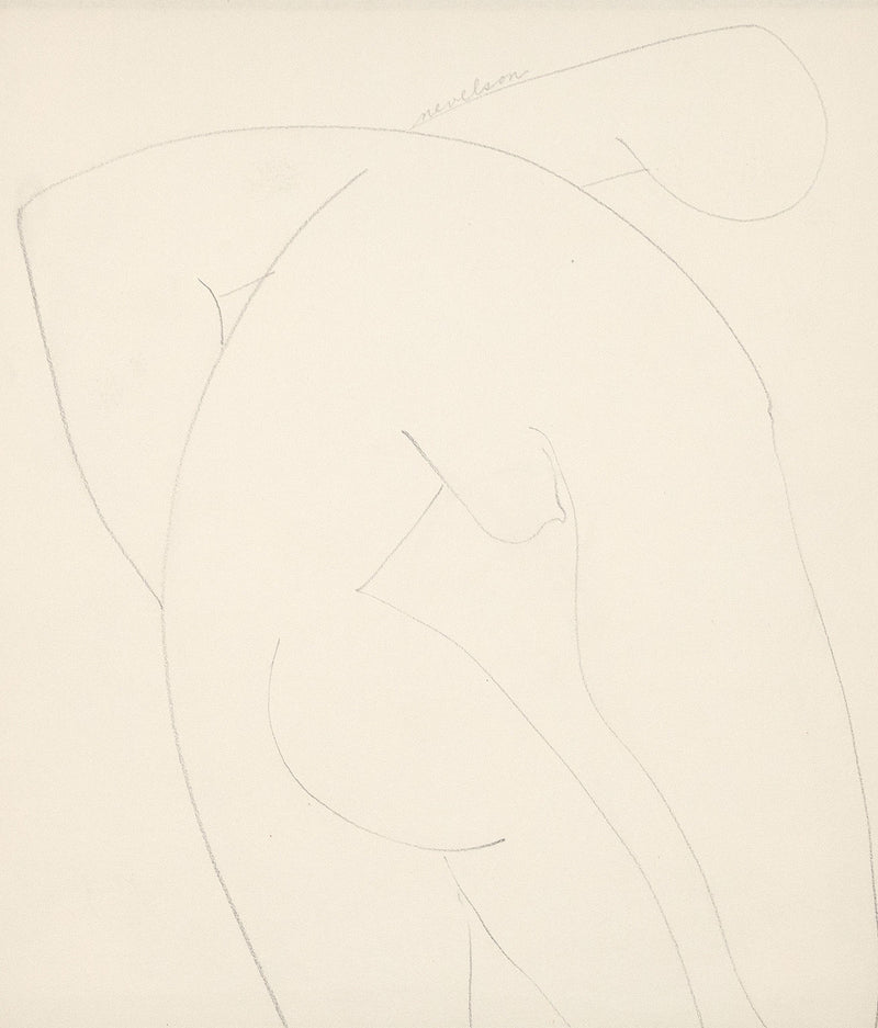 Louise Nevelson Caviar20 drawing Nude