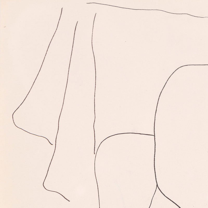 Louise Nevelson, Reclining Nude, drawing, 1930, Caviar20
