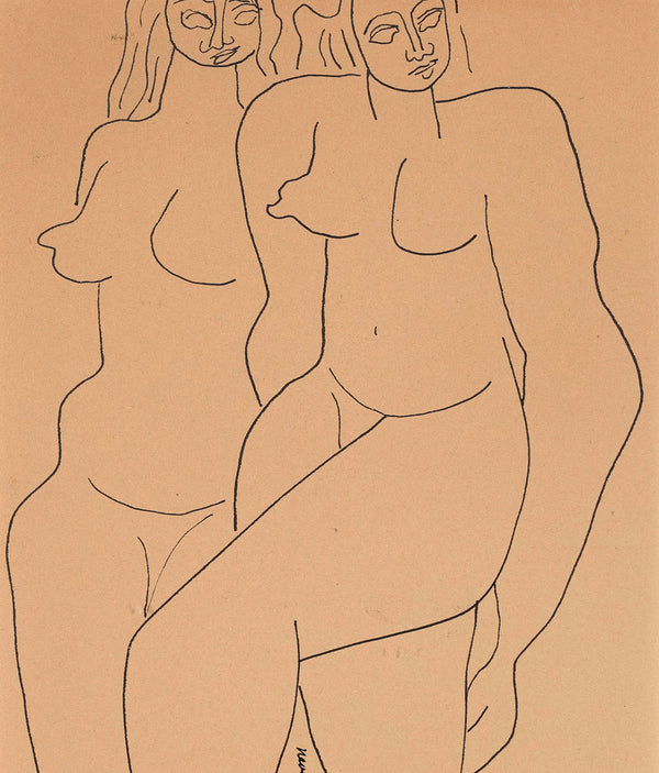 Louise Nevelson Two Figures 1932 drawing Caviar20
