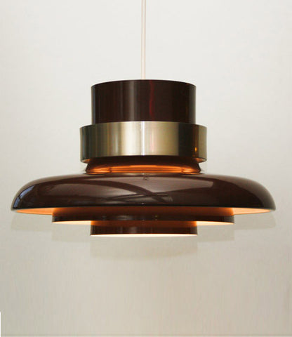 "ATELJE LYKTON ""CHOCOLATE"" TIERED PENDANT, 1960'S"