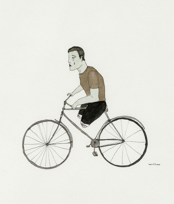 "MARCEL DZAMA ""SLOW CYCLIST"" DRAWING, 1998"