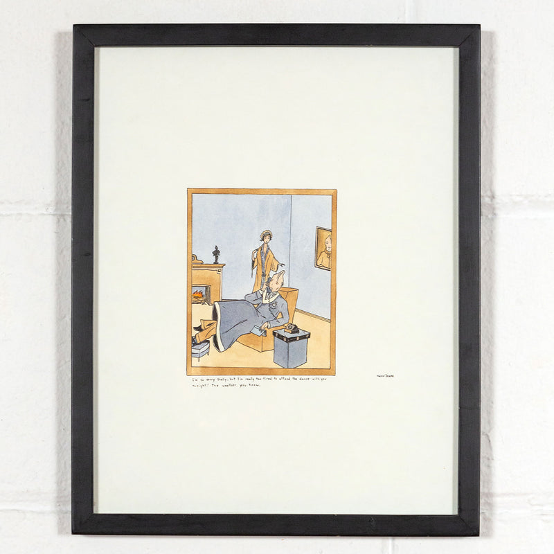Marcel Dzama, Too Tired Shelley, Drawing 2000, Caviar20, Caviar20 Canadian Art, shown with frame option