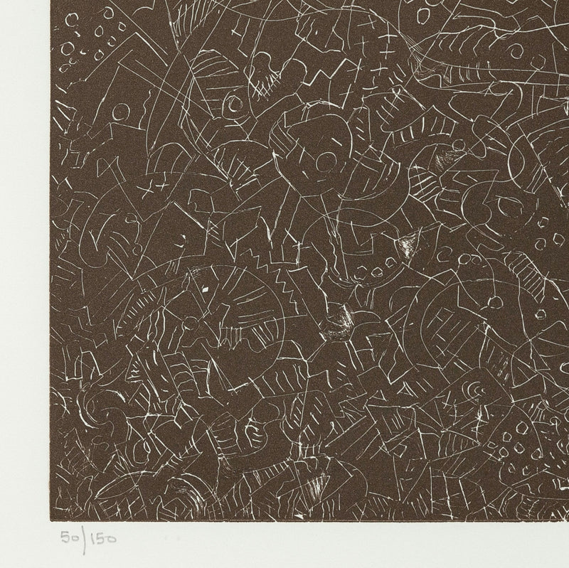 "MARK TOBEY ""PSALTERY FIRST FORM"" ETCHING 1974"