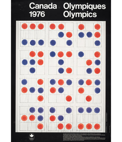 "MICHAEL SNOW ""MONTREAL 1976"" OLYMPIC POSTER"