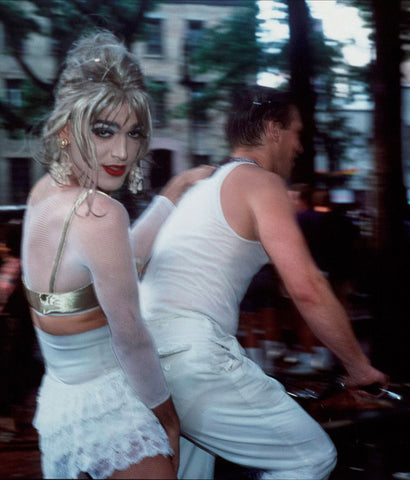 "NAN GOLDIN ""JIMMY PAULETTE ON DAVID'S BIKE"" 1991"