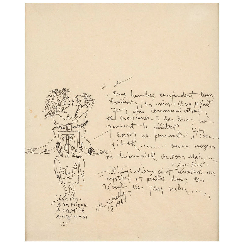 Niki de Saint Phalle two drawings 1967