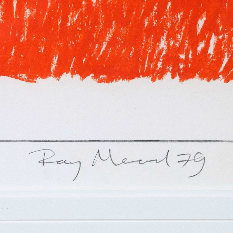 Ray Mead, Untitled (Flags), Pastel and mixed media on paper, 1979, Caviar 20, close-up showing artist signature and date
