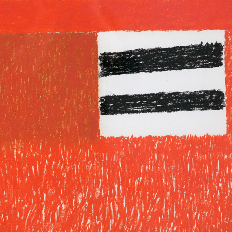 Ray Mead, Untitled (Flags), Pastel and mixed media on paper, 1979, Caviar 20, close-up