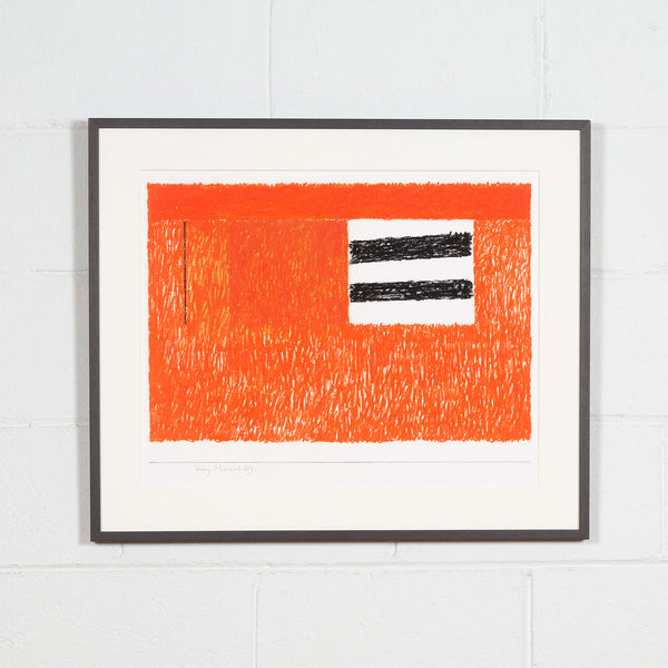Ray Mead, Untitled (Flags), Pastel and mixed media on paper, 1979, Caviar 20, Framed
