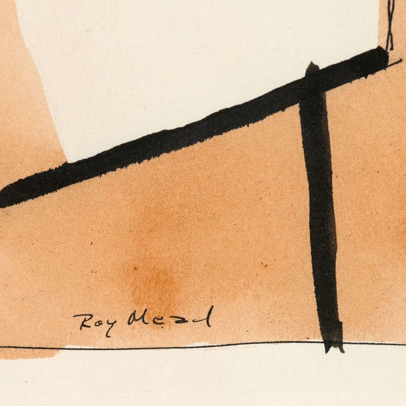 "RAY MEAD ""UNTITLED"" WATERCOLOR, 1955"