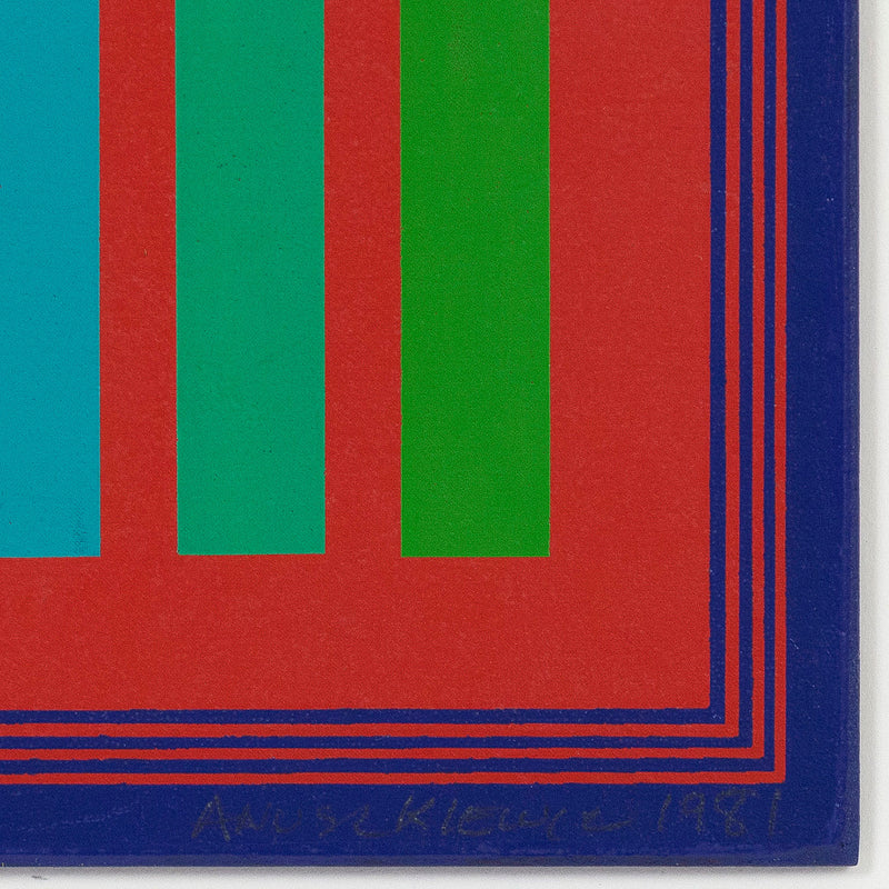 "RICHARD ANUSZKIEWICZ ""GREEN RANGE"" SCREENPRINT, 1981"