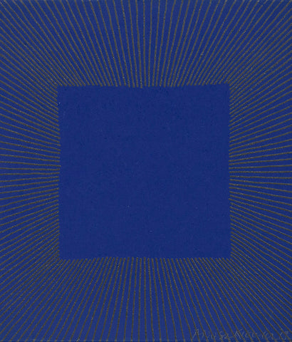 "RICHARD ANUSZKIEWICZ ""MIDNIGHT BLUE"" SCREENPRINT, 1977"