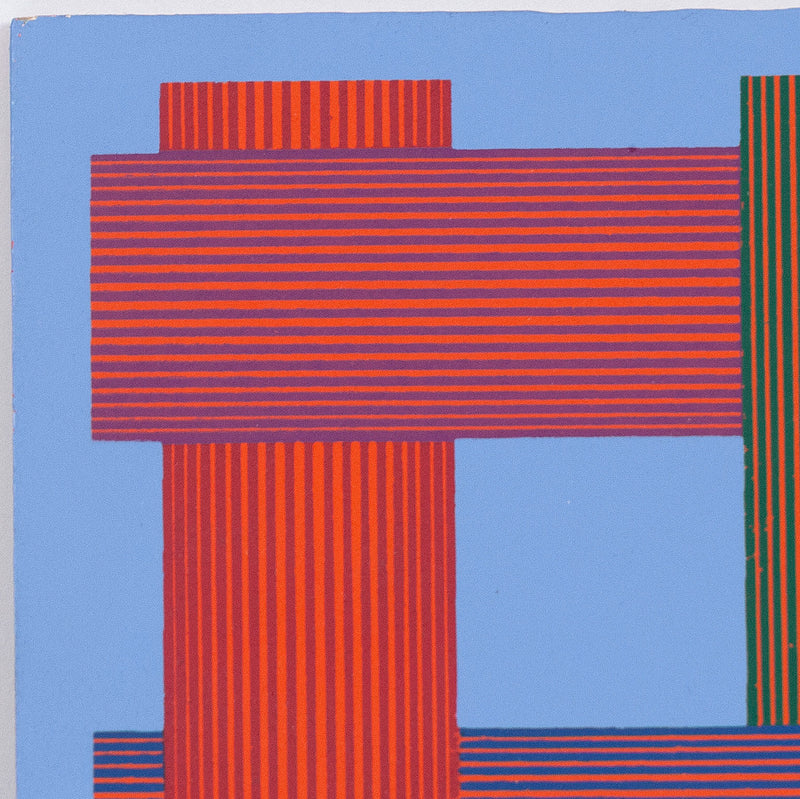 "RICHARD ANUSZKIEWICZ ""TRANSLUMINA"" SCREENPRINT, 1986"