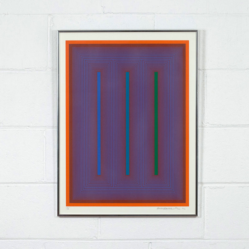 "RICHARD ANUSZKIEWICZ ""SEQUENTIAL IX"" SCREENPRINT 1972"