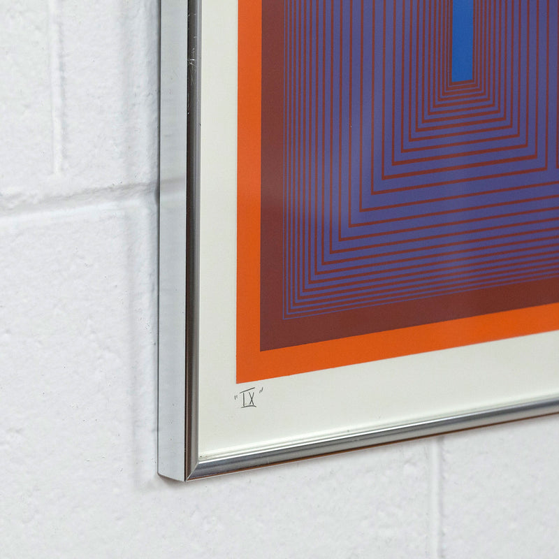 "RICHARD ANUSZKIEWICZ ""SEQUENTIAL IX"" SCREENPRINT, 1972"