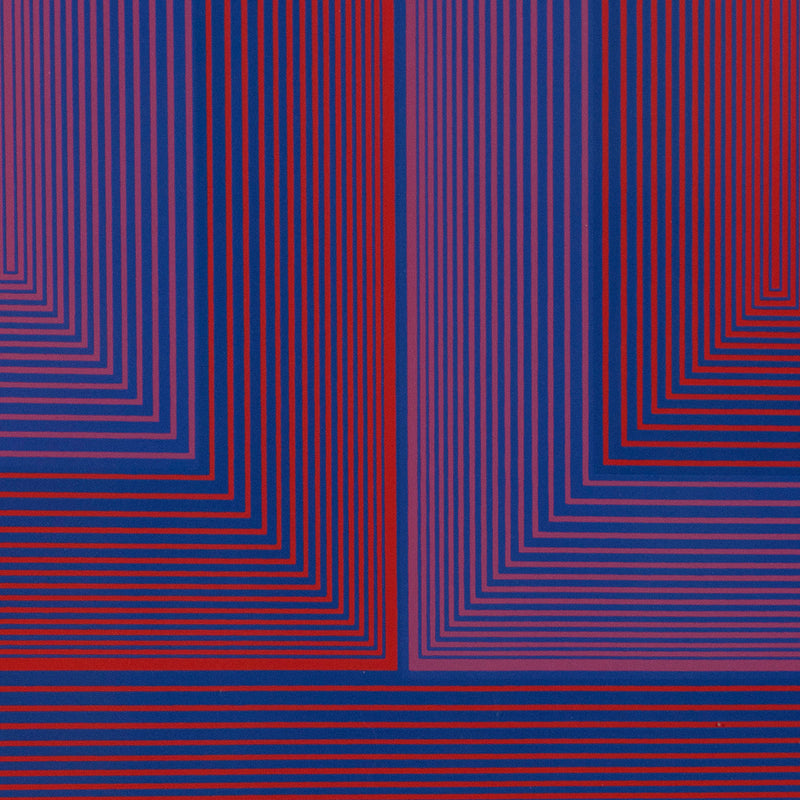 "RICHARD ANUSZKIEWICZ ""SEQUENTIAL X"" SCREENPRINT, 1972"