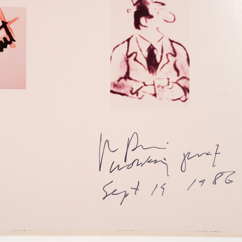 Richard Prince, Missing or Presumed Dead Joke,  Marker and pen on ektacolor photographs, 1986, Caviar20, close up showing artist signature
