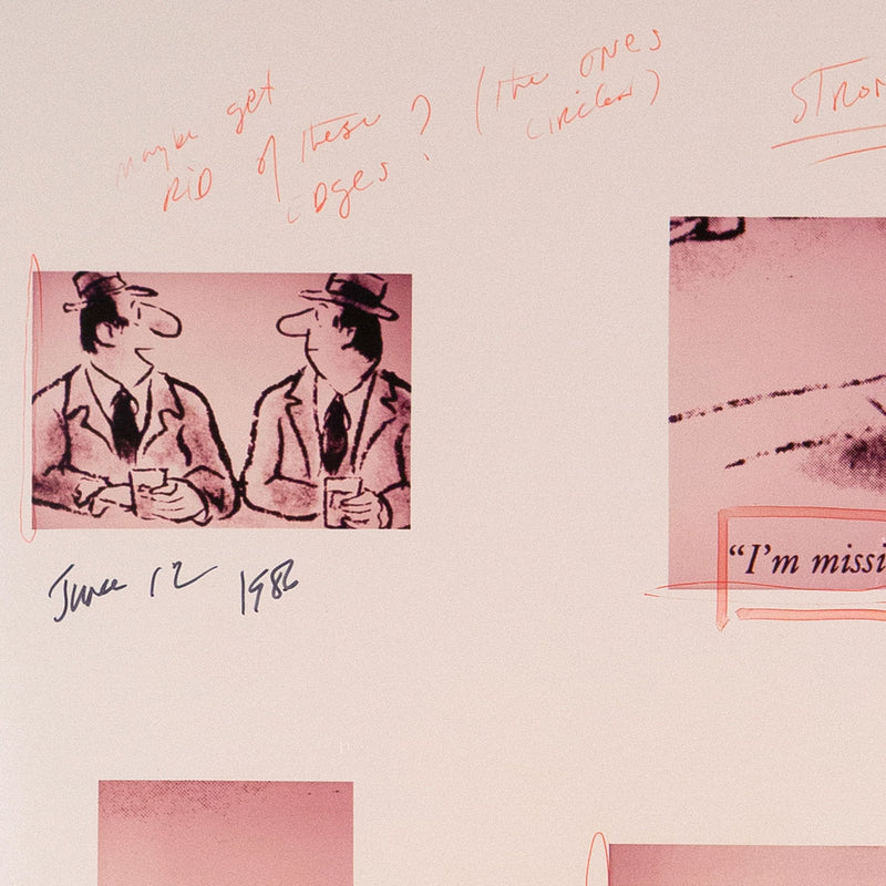Richard Prince, Missing or Presumed Dead Joke,  Marker and pen on ektacolor photographs, 1986, Caviar20