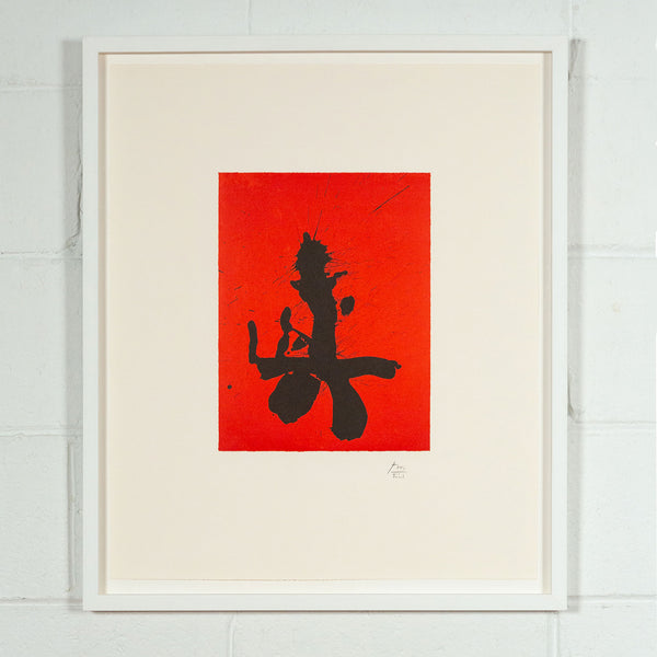 Robert Motherwell, Octavio Paz Suite, Red Samurai, Lithograph, 1988, Caviar20, Prints