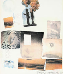 "ROBERT RAUSCHENBERG ""SUPPORT"" SCREENPRINT, 1973"