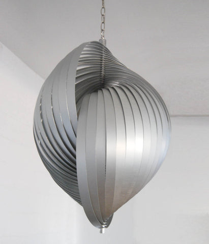 "LARGE ""ROUSSILLION"" CUSTOM ALUMINUM CHANDELIER"