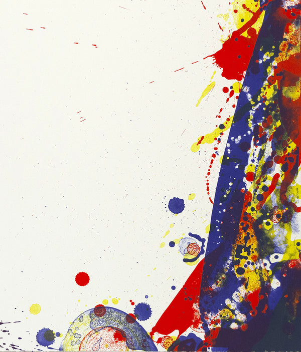 "SAM FRANCIS ""BLUE CUT SAIL"" LITHOGRAPH, 1969"