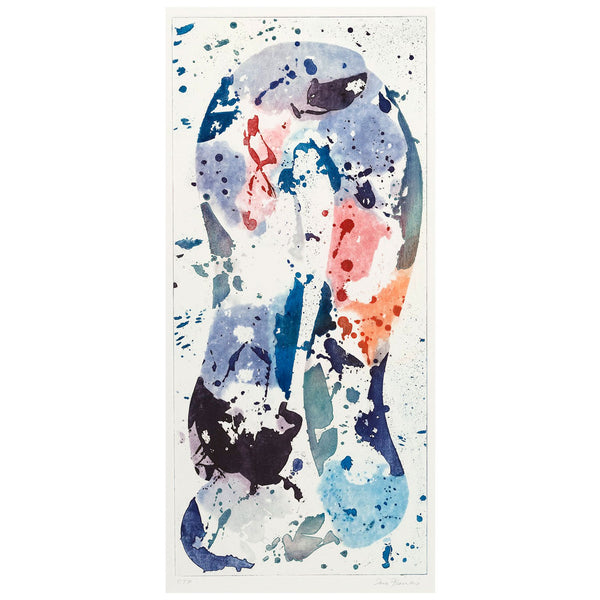 Sam Francis Caviar20 etching Tall Groove 1984