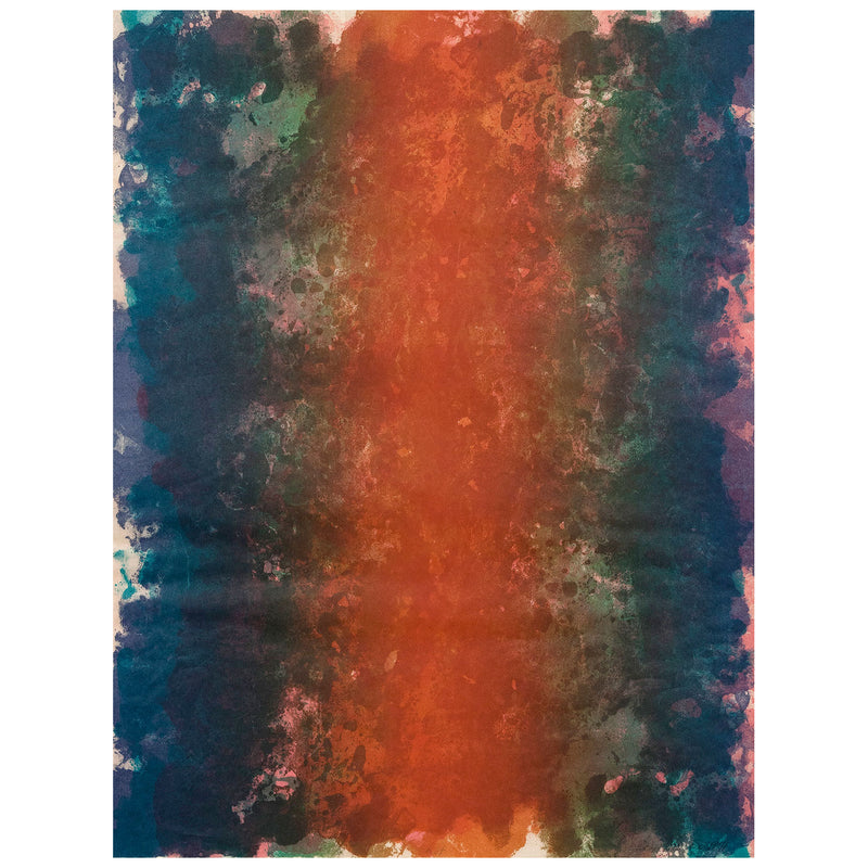 "SAM GILLIAM ""FIRE"" LITHOGRAPH, 1971"
