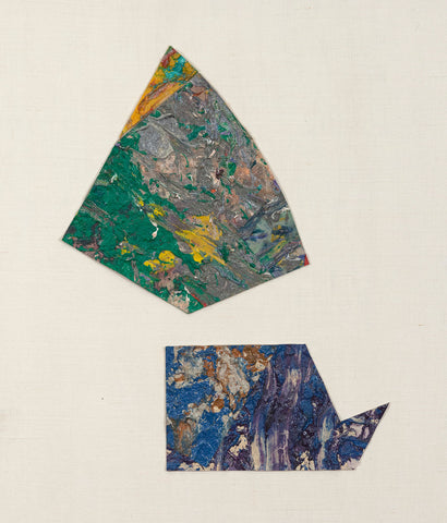 "SAM GILLIAM ""UNTITLED (ABSTRACT DIPTYCH)"", c.1980"