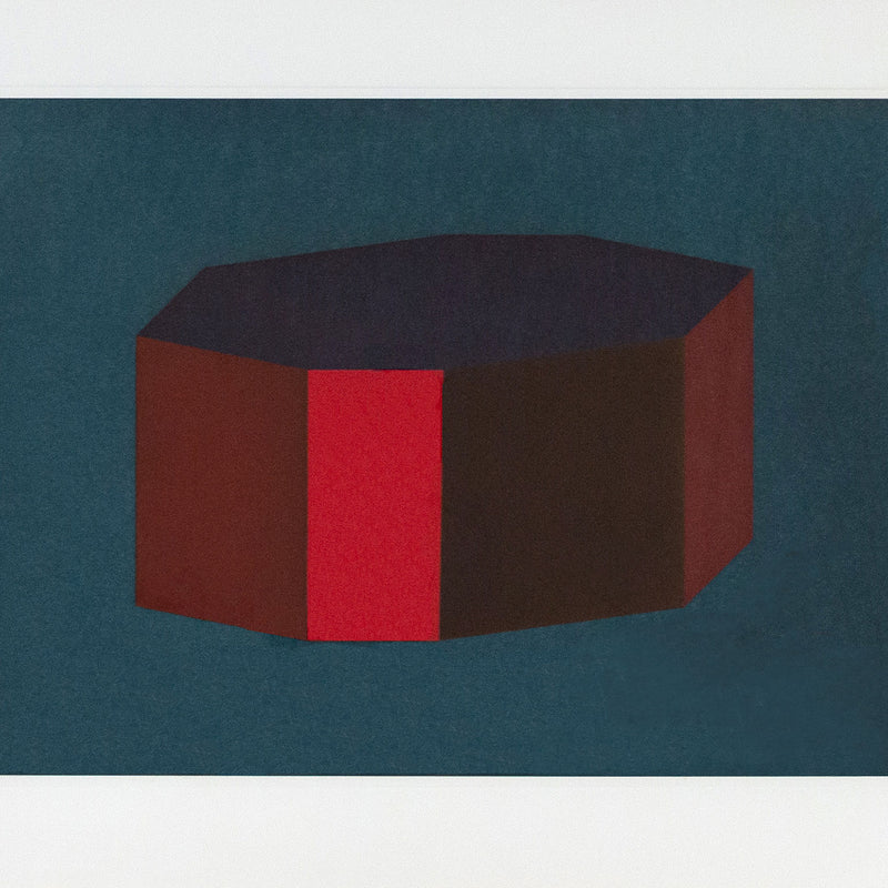 Sol Lewitt, Forms Derived from a Cubic Rectangle, #12 Aquatint, print, 1990, Caviar20 prints