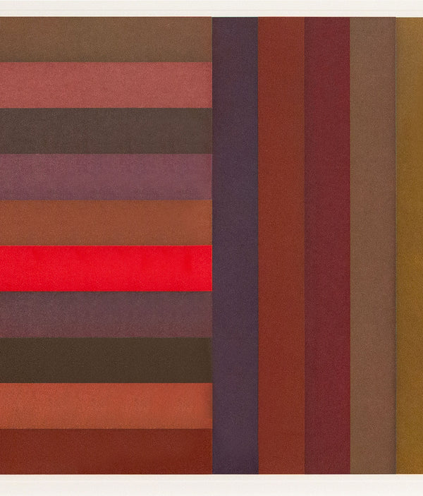 Sol Lewitt, Bands: Red, Aquatint, 1991, Caviar20 prints