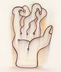 "SOREL ETROG ""HAND STUDY"" DRAWING, 1969"