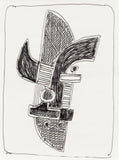 "SOREL ETROG ""CONSTRUCTION SKETCH"" DRAWING"
