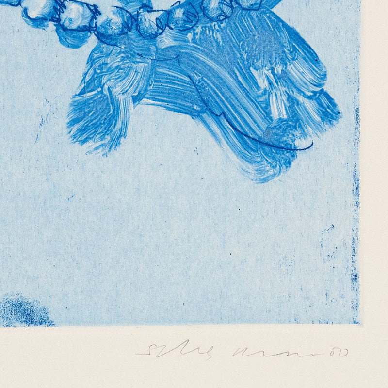 Tony Scherman, Grace Kelly, Monotype, Etching, 2000, Canadian Artist, Caviar 20, close up showing artist signature