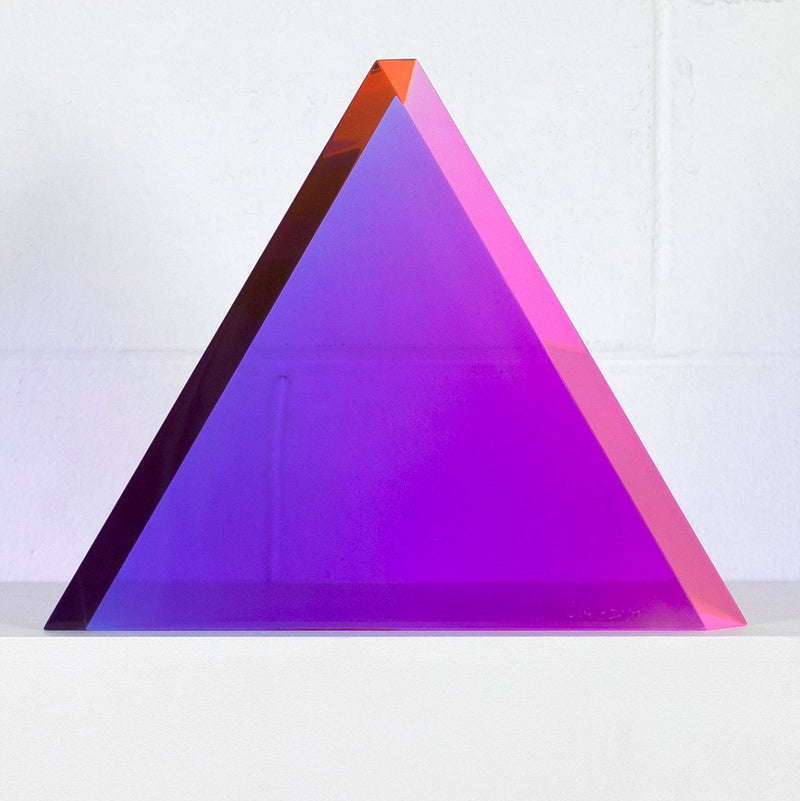 Vasa Mihich sculpture Caviar20 purple triangle